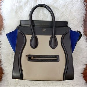 Mini Celine Tri-Color Luggage Tote